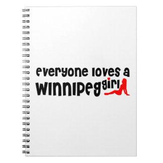 Carnet Tout le monde aime une fille de Winnipeg