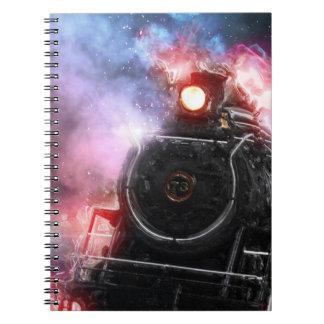 Carnet Train de fret flamboyant