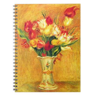 Carnet Tulipes par Pierre Renoir, art vintage