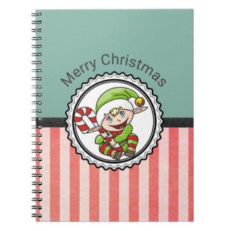 Carnet Vacances mignonnes Elf avec le Joyeux Noël de