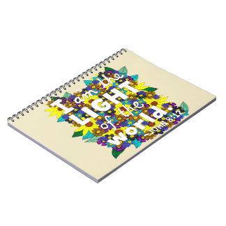 Carnet Vers floral coloré de bible de typographie de