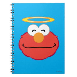 Carnet Visage de sourire d'Elmo avec le halo