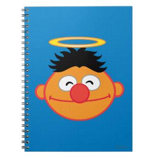 Carnet Visage de sourire d'Ernie avec le halo