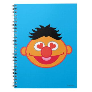 Carnet Visage de sourire d'Ernie avec les yeux en forme