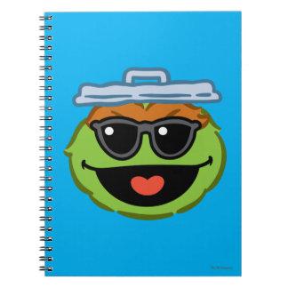 Carnet Visage de sourire d'oscar avec des lunettes de