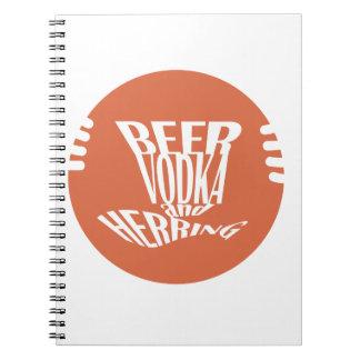 Carnet vodka et harengs de bière