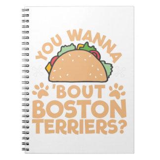 Carnet Vous voulez aux terriers de Boston d'accès de taco