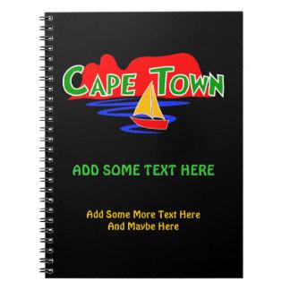 Carnets à spirale mignons de Cape Town Afrique du