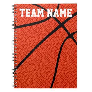Carnets faits sur commande de joueur de basket,