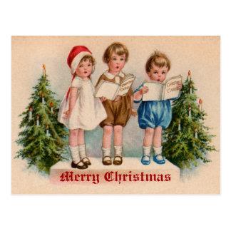 Caroling badine la carte postale vintage