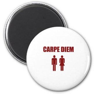 Carpe Diem (rood tekstjongen & meisje) Magneet