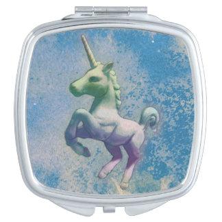 Carré compact de miroir de licorne (Arctique bleu)
