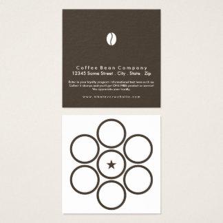 carré de café de programme de fidélité carte de visite carré