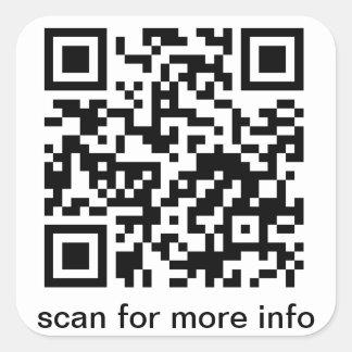 Carré de code de QR grand Sticker Carré