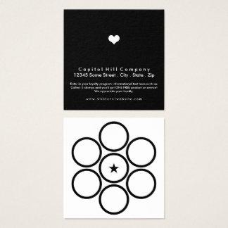carré de coeur de fidélité carte de visite carré
