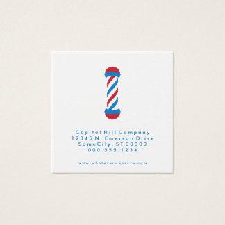 carré de coiffeur de référence carte de visite carré