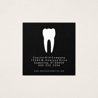 carré de dentiste de référence carte de visite carré