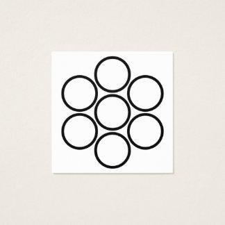 carré de récompenses de fidélité de cercles carte de visite carré