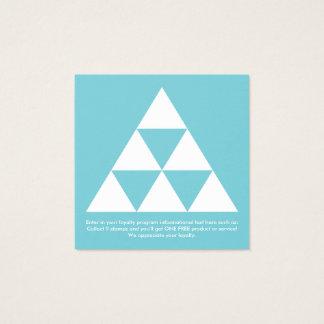 carré de récompenses de fidélité de pyramide carte de visite carré