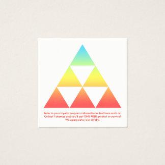 carré de récompenses de fidélité de triangle carte de visite carré