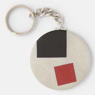 Carré noir et carré rouge par Kazimir Malevich Porte-clés