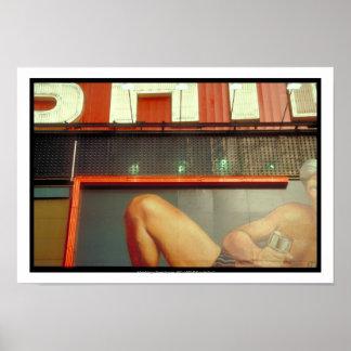 Carré NYC P de temps de publicité de forme Poster