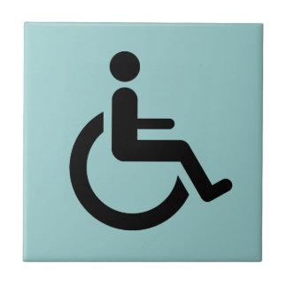Carreau Accès de fauteuil roulant - symbole de chaise