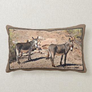 Carreau agréable de coutume d'ânes de lac coussin rectangle