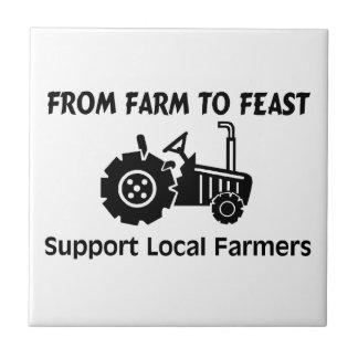 Carreau Agriculteurs de soutien de la ferme à régaler