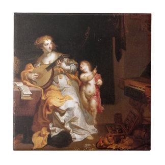 Carreau Allégorie de vice par Theodoor van Thulden