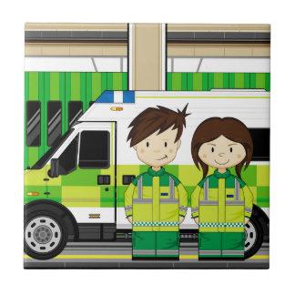 Carreau Ambulance de bande dessinée et EMT
