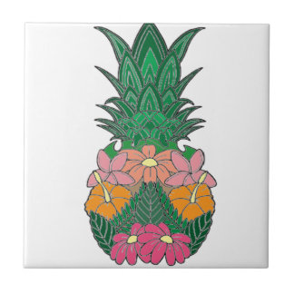 Carreau Ananas fleuri