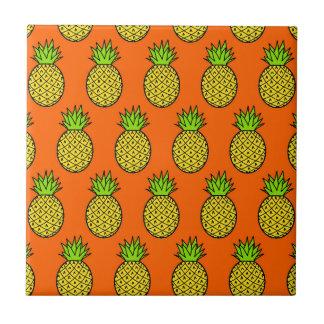 Carreau Ananas oranges tropicaux
