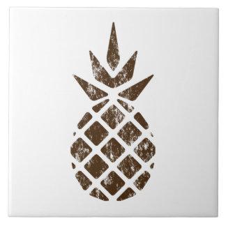 Carreau Ananas rustique d'art de timbre de Brown