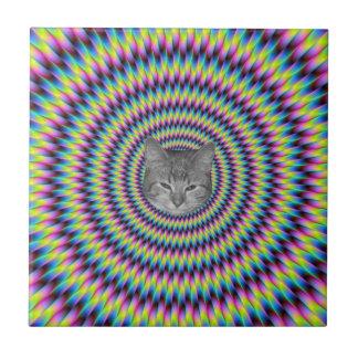 Carreau Anneaux de chat de couleur
