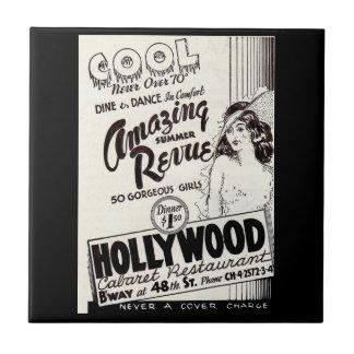 Carreau annonce de restaurant de cabaret de Hollywood des