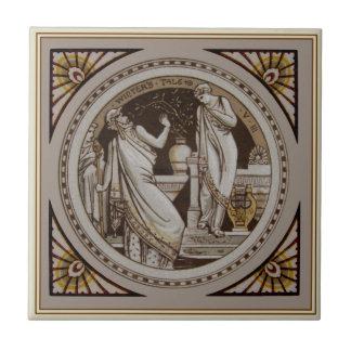 Carreau Antiquité Repro Minton du conte de l'hiver de s de