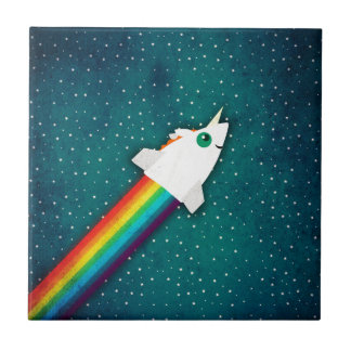 Carreau Arc-en-ciel Rocket de licorne