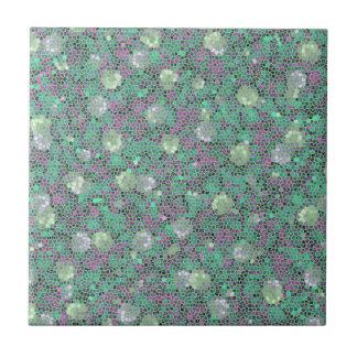 Carreau Art coloré à la mode de motif de mosaïque florale