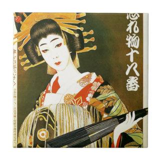 Carreau Art japonais vintage de geisha