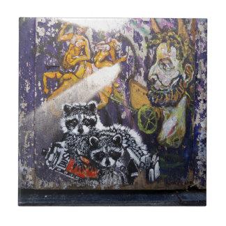 Carreau Art Nr de rue de graffiti d'Amsterdam. 1 - Raton