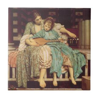 Carreau Art victorien vintage, leçon de musique par