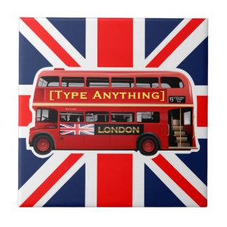 Carreau Autobus rouge de Londres orienté