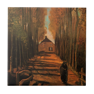 Carreau Avenue de Van Gogh des peupliers en automne,