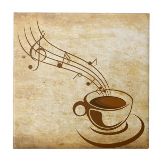 Carreau Azulejo Café avec Musique