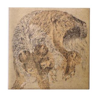 Carreau Bakou par Katsushika Hokusai