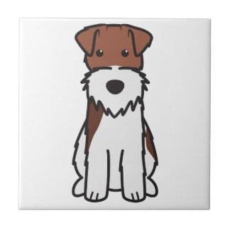 Carreau Bande dessinée de chien de Fox Terrier de fil