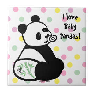 Carreaux Dessin De Panda En Céramique Zazzlebe