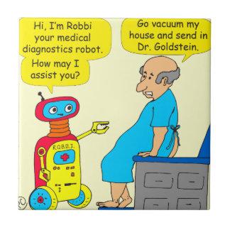 Carreau bande dessinée médicale de robot de 731