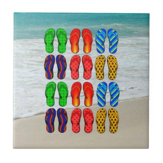 Carreau Bascules de plage, amusement de vacances